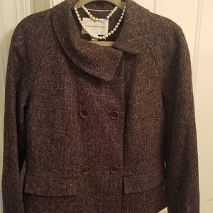 Banana Republic Black, Brown Tweed Jacket